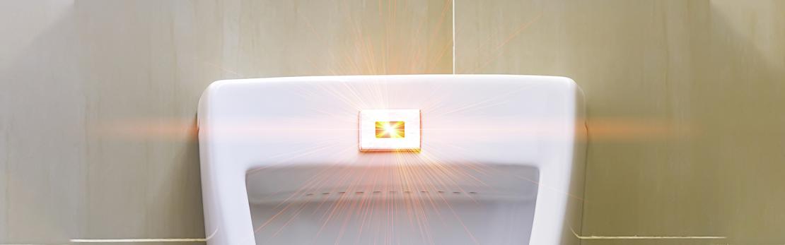 motion sensor urinal