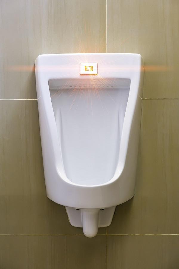 urinal with motion sensor
